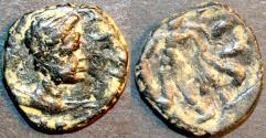 Ancient Coins - INDIA, KUSHAN: Kujula Kadphises AE unit, Hercules type. SCARCE!
