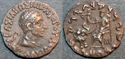Ancient Coins - INDO-GREEK: Antialcidas (Antialkidas) AR drachm: diademed bust. SUPERB!