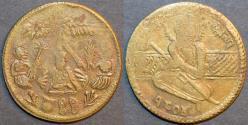 "World Coins - INDIA, SIKH, Brass temple token, year ""1804"", Herrli T6"