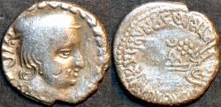 Ancient Coins - INDIA, WESTERN KSHATRAPAS: Vijayasena (239-250 CE) Silver drachm, as Mahakshatrapa, year S. 167