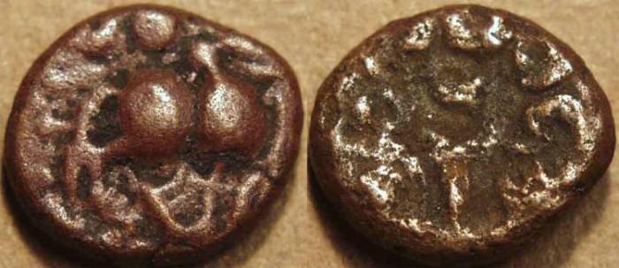 World Coins - INDIA, VIJAYANAGAR: Devaraya II Copper jital, Bull type, Mulbagal mint.