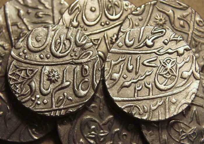 World Coins - BRITISH INDIA, BENGAL PRESIDENCY: Silver rupee in the name of Shah Alam II, Banaras, RY 26. SPECIAL PURCHASE!