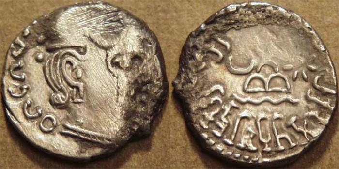Ancient Coins - INDIA, WESTERN KSHATRAPAS: Rudrasimha I (c.178-197 CE) Silver drachm, as Kshatrapa.