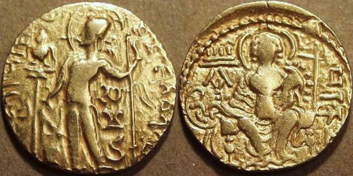 Ancient Coins - INDIA, Gupta: Samudragupta Gold dinar: Standard type