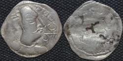 Ancient Coins - INDIA, ALCHON HUNS, Mehama Silver drachm, Crude style type, Göbl 74. SCARCE and CHOICE!