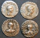 Ancient Coins - INDO-GREEK: Lot of four Menander drachms, four different types