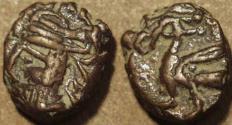 Ancient Coins - PARTHIA, VOLOGASES IV (147-191 CE) AE chalkous, Ecbatana, Sell 84.161. RARE!