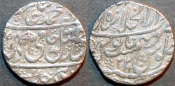 Ancient Coins - INDIA, MUGHAL, Shah Alam II: Silver rupee, Shahjahanabad, AH 1195, RY 23. CHOICE!