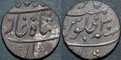 Ancient Coins - INDIA, MUGHAL, Muhammad Shah (1719-48): Silver rupee, Murshidabad, year 30, CHOICE+
