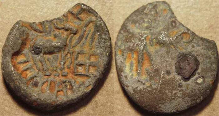 Ancient Coins - INDIA, YAUDHEYAS of BAHUDHANYAKA (ROHTAK) Billon karshapana. VERY RARE!