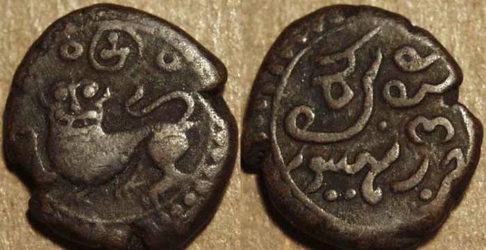 Ancient Coins - INDIA, KINGDOM OF MYSORE, Dewan Purniya, regent for Krishna Raja Wodeyar (1799-1810): Copper 6+1/4 cash.