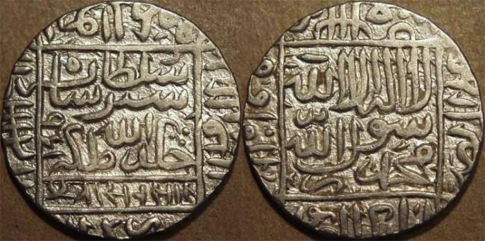 Ancient Coins - INDIA, DELHI SULTANATE, Sher Shah Suri (1538-45) Silver rupee of Gwaliar, AH 951. SUPERB!