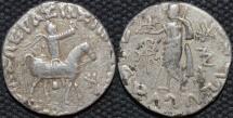 INDO-SCYTHIAN, AZES II Silver tetradrachm, Zeus left type, Senior 105.312T