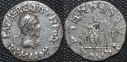 Ancient Coins - Indo-Greek: Hermaios AR tetradrachm. RARE LIFETIME ISSUE!