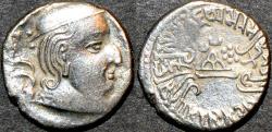 Ancient Coins - INDIA, WESTERN KSHATRAPAS: Vijayasena (239-250 CE) Silver drachm, as Kshatrapa, year S. 161. SCARCE & CHOICE!
