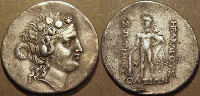 Ancient Coins - Thrace: Thasos AR tetradrachm, after 148 BCE