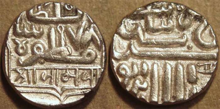 Ancient Coins - INDIA, NAWANAGAR, Anonymous Silver kori. SUPERB!