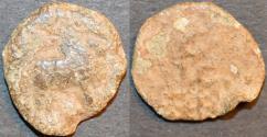 Ancient Coins - INDIA, SADAKANAS of CHANDRAVALLI (c. 30 BCE - 70 CE): Anonymous Lead fraction. SCARCE!