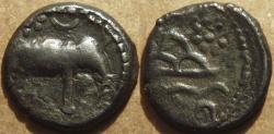 Ancient Coins - INDIA, WESTERN KSHATRAPAS: Anonymous Potin unit. SCARCE & CHOICE!