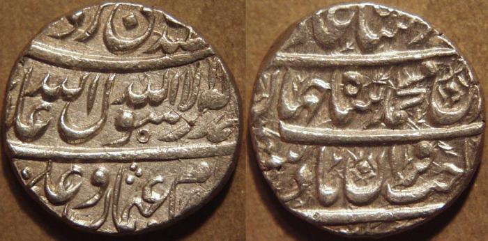 World Coins - INDIA, MUGHAL, Shah Jahan (1628-58) AR rupee, Burhanpur. CHOICE!