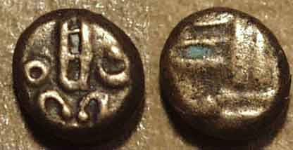 Ancient Coins - DUTCH INDIA: Gold fanam, Negapatam type, early issue. CHOICE!