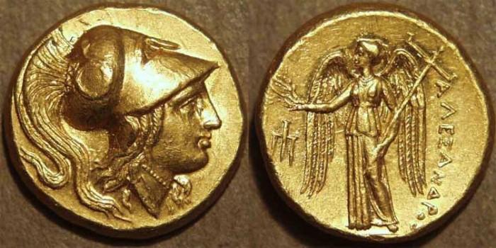 Ancient Coins - GREEK, Macedon, Alexander III the Great AV stater, Amphipolis, SUPERB!