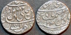 Ancient Coins - INDIA, MUGHAL, Shah Alam II: Silver rupee, Shahjahanabad, AH 1196, RY 24. SUPERB!