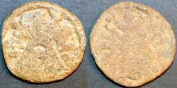 Ancient Coins - INDIA, CHUTUS of BANAVASI: Chutukulananda Lead unit, type 1