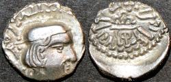 Ancient Coins - INDIA, INDIA, WESTERN KSHATRAPAS: Rudrasimha II (304-316 CE) Silver drachm