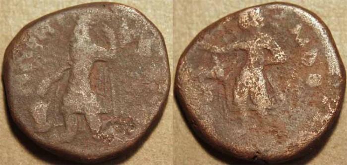 Ancient Coins - INDIA, KUSHAN: Kanishka I AE tetradrachm, Mao reverse. SCARCE!