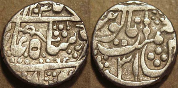 Ancient Coins - INDIA, KUCHAWAN (JODHPUR FEUDATORY): Silver rupee in the name of Shah Alam II, AH 1203, RY 31. CHOICE!