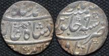 INDIA, MUGHAL, Muhammad Shah (1719-48): Silver rupee, Itawa, RY 9. CHOICE!
