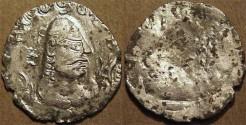 Ancient Coins - INDIA, ALCHON HUNS, Shahi Vaisravana Silver drachm, Göbl 139, VERY RARE & CHOICE!