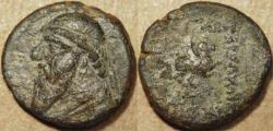 Ancient Coins - PARTHIA, MITHRADATES II (123-88 BCE) AE tetrachalkous, Rhagae, Sell 26.26. SCARCE!