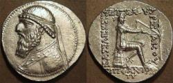 Ancient Coins - PARTHIA, MITHRADATES II (123-88 BCE) Silver tetradrachm, Seleucia on the Tigris, Sell 24.4. SUPERB!