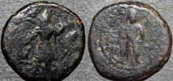 Ancient Coins - INDIA, KUSHAN: Kanishka I AE drachm or 1/4 unit, Buddha reverse, Cribb 18. VERY RARE!