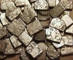 Ancient Coins - INDIA, MAURYA: Unattributed  Punchmarked AR karshapanas, Lot of 5, random selection.