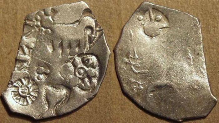 Ancient Coins - MAGADHA: Series I AR punchmarked karshapana GH 148. CHOICE!