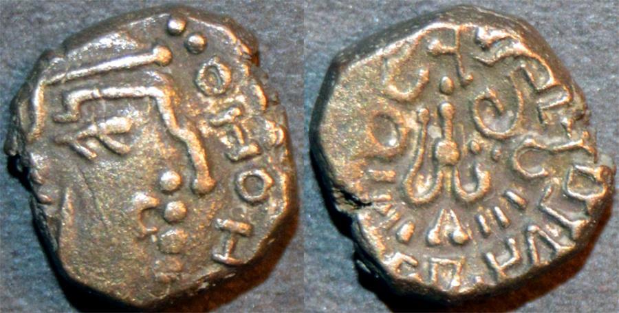 Ancient Coins - INDIA, Gupta: Kumaragupta I Silver drachm. CHOICE!