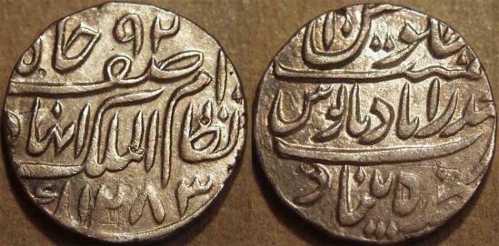 World Coins - INDIA, HYDERABAD, Afzal ad-Daula (1857-69) Silver rupee ino Asaf Jah, Hyderabad, AH 1283, RY 10. CHOICE!