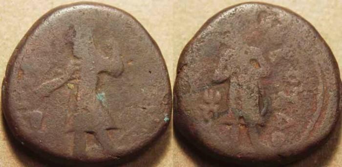 Ancient Coins - INDIA, KUSHAN: Kanishka I AE tetradrachm, Buddha reverse, Cribb 5. VERY RARE!