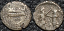 PHOENICIA, Satrap Mazaios AR 1/8 shekel, Sidon, ex-Alexander soldier ?, RARE and of HISTORICAL INTEREST.