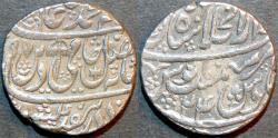 World Coins - INDIA, MUGHAL, Shah Alam II: Silver rupee, Shahjahanabad, AH 1197, RY 24. CHOICE!