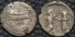 Ancient Coins - PHOENICIA, Satrap Mazaios AR 1/8 shekel, Sidon, ex-Alexander soldier ?, HISTORICALLY INTERESTING and RARE.