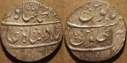 Ancient Coins - INDIA, MUGHAL, Muhammad Shah (1719-48): Silver rupee, Gwalior, RY 8, AH 1138. CHOICE!