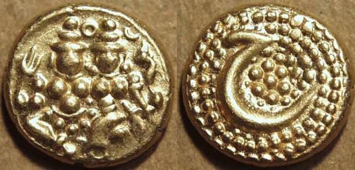 World Coins - INDIA, KINGDOM of MYSORE: Haidar Ali Gold pagoda, Uma-Maheswara type with rosette reverse. SCARCE+SUPERB!