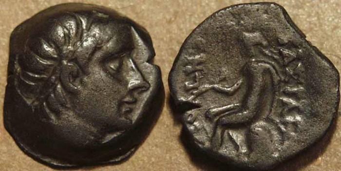 Ancient Coins - SELEUCID KINGDOM, Antiochos III AE 15, Seleucia.