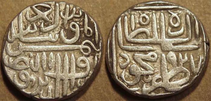 World Coins - INDIA, GUJARAT SULTANATE, Shams al-din Muzaffar II: Silver tanka, GG 262, AH 927, CHOICE!