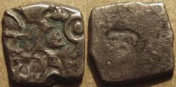 Ancient Coins - INDIA, SANGAM AGE PANDYA: Silver punchmarked Half Karshapana. VERY RARE and CHOICE!