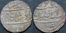Ancient Coins - INDIA, MUGHAL, Muhammad Shah (1719-48): Silver rupee, Murshidabad, year 29, CHOICE